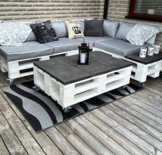 Muebles de jard n con palets c mo convertir palets en muebles for Muebles de jardin con palets