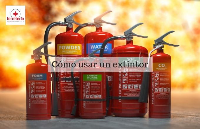 Cómo usar un extintor de incendios