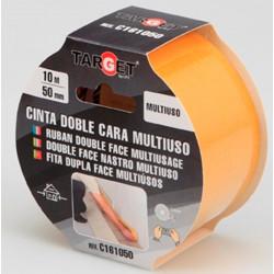 Cinta Adh 50mmx10mt D/cara Target Multiuso C161050