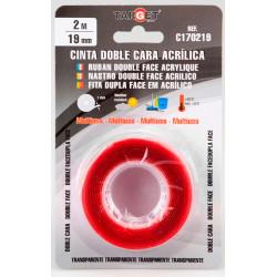 Cinta Adh 19mmx 2mt D/cara Target Multiuso Acril C170219