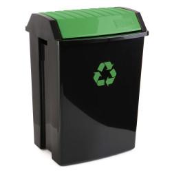 Contenedor Recic. 50 Lt 40x33,5x57,5 Pp Neg/ver Tatay 1 Ud