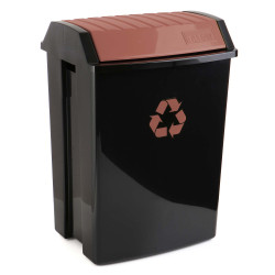 Contenedor Recic. 50 Lt 40x33,5x57,5 Pp Neg/marr Tatay 1 Ud