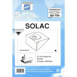 Bolsa Aspirador Solac 911 5p. 754