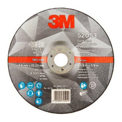 Disco Corte Y Desbaste Metal 125x1,0x22 Mm Silver 3m