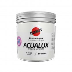 Pintura Manualid. Al Agua 75 Ml Bl Satin. Acualux Titan