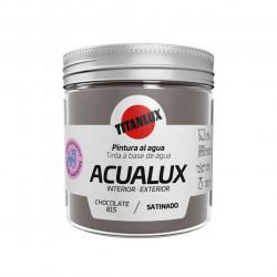Pintura Manualid. Al Agua 75 Ml Chocol. Satin. Acualux Titan