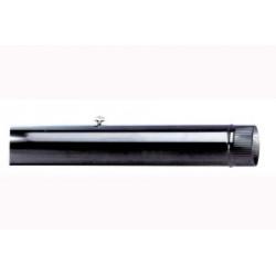 Tubo Estufa Con Llave Esmaltado Negro 110 Mm. 7500154