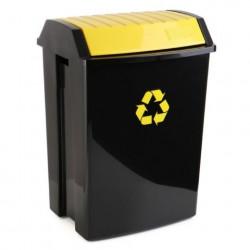 Contenedor Recic. 50 Lt 40x35,5x57,5cm Tatay Pl Amarillo 110