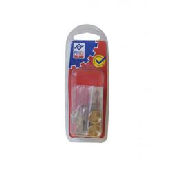 Embellecedor Liso Laton B 4 Pz 16 Mm