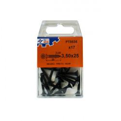 Tirafondo Pladur Negro C/12 3,5x45 Mm