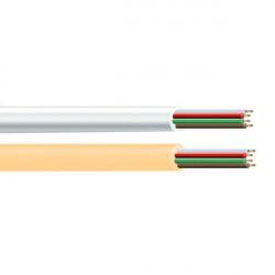 Cable Telefonico 4 Vias Blanco R/100 M