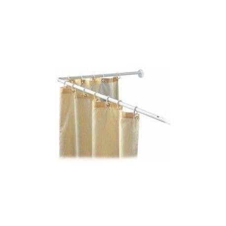 Comprar barra cortina ba o curva blanca 114 a 190 en masferreteria - Cortina bano curva ...