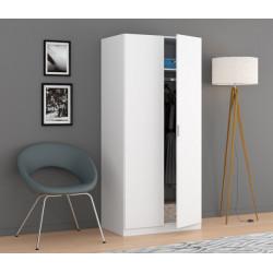 Armario Blanco 2 Puertas 180x81x52