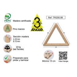 Escuadra Triangle Pino S/barn 20x20x20