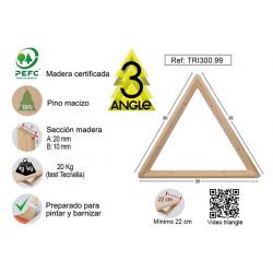 Escuadra Triangle Pino S/barn 30x30x30