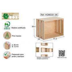Caja Pino S/barn Home Box 51x38x28