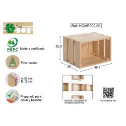Caja Pino S/barn Home Box 38x26x28