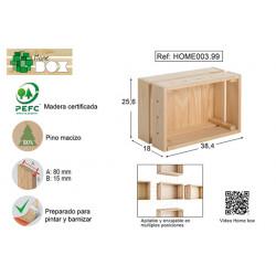 Caja Pino S/barn Home Box 38x17x28
