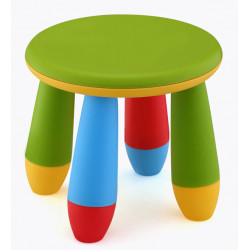 Taburete Infantil Verde 28x26 Cm