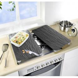 Tabla Vidrio Cocina 2u.pizarra 30x52 Cm