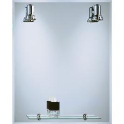 Espejo BaÑo Focos+repisa Cromo 60x75 Cm