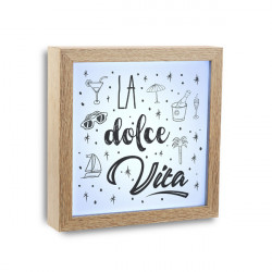 Marco Luz La Dolce Vita 20x20x4 Cm