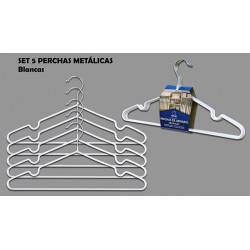 Percha Metal Antides. Set-5 Bl