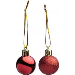 Bola Navidad Rojo Set-17 3 Cm