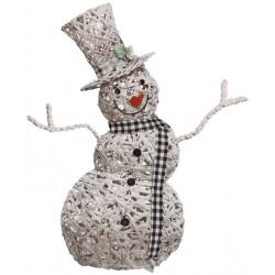 MuÑeco Nieve Mimbre Led 120 Cm