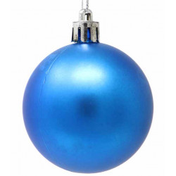 Bola Navidad Azul Mate 20 Cm