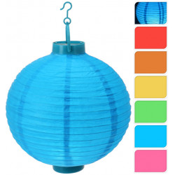 Farolillo Papel C/led 6 Color 23x3x25 Cm