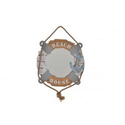 Espejo Madera Nautico 40x4x40cm