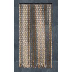 Cortina Puerta Madera Bambu 90x180 Cm