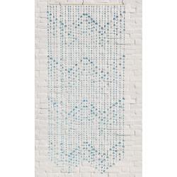 Cortina Puerta Plastico Azul 90x180 Cm