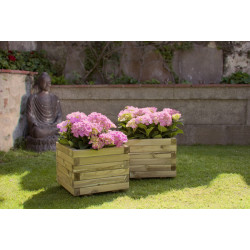 Jardinera Madera Cuadrada 40x40x30cm