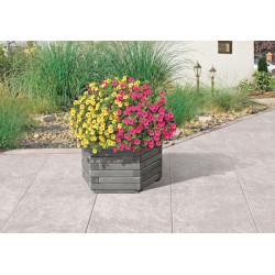 Jardinera Hexagonal Gray 60x35 Cm
