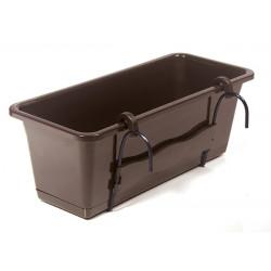 Jardinera+soporte Chocolate 50 Cm