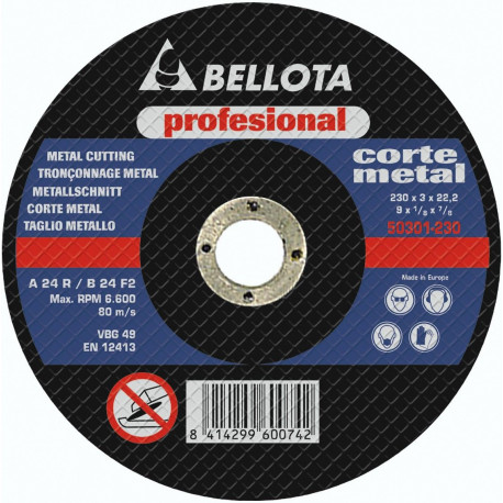 Disco Corte Metal Profesional Bellota 115x3x22 50301-115