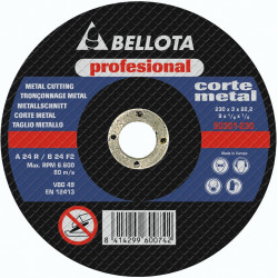 Disco Corte Metal Profesional Bellota 180x3x22 50301-180