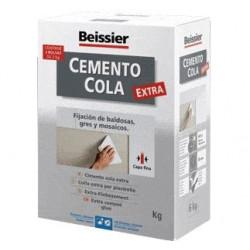 Cemento Cola Gris Polvo Inter/exte Beissier Estuche 2kg 623