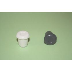 Contera Plastico Redonda Negra 10 Mm.10410