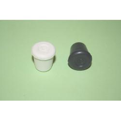 Contera Plastico Redonda Negra 12 Mm.10412