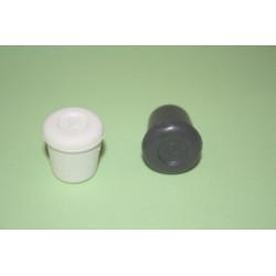 Contera Plastico Redonda Negra 14 Mm.10414