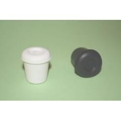 Contera Plastico Redonda Negra 16 Mm.10416