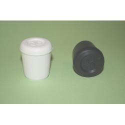 Contera Plastico Redonda Negra 26 Mm.10426