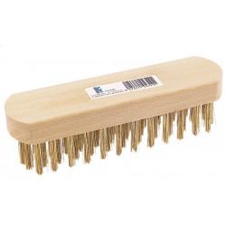 Cepillo Manual Acero Latonado S/mango 5 Hileras S550ci Fecin