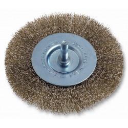 Cepillo Circular Acero Latonado 75mm P/taladro 470.00 Codiv