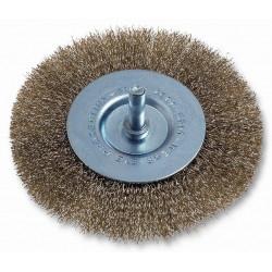 Cepillo Circular Acero Latonado 100mm P/taladro 475.00 Codiv