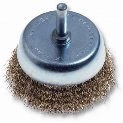 Cepillo Taza Acero Latonado  50mm P/taladro 480.00 Codiven