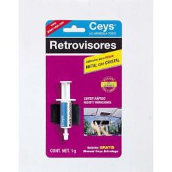Pegamento Para Retrovisor Metal Con Cristal 1gr+1malla 501020